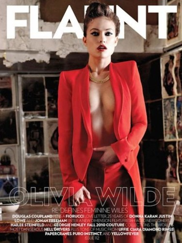 Una de portadas eroticonas con Olivia Wilde para Flaunt