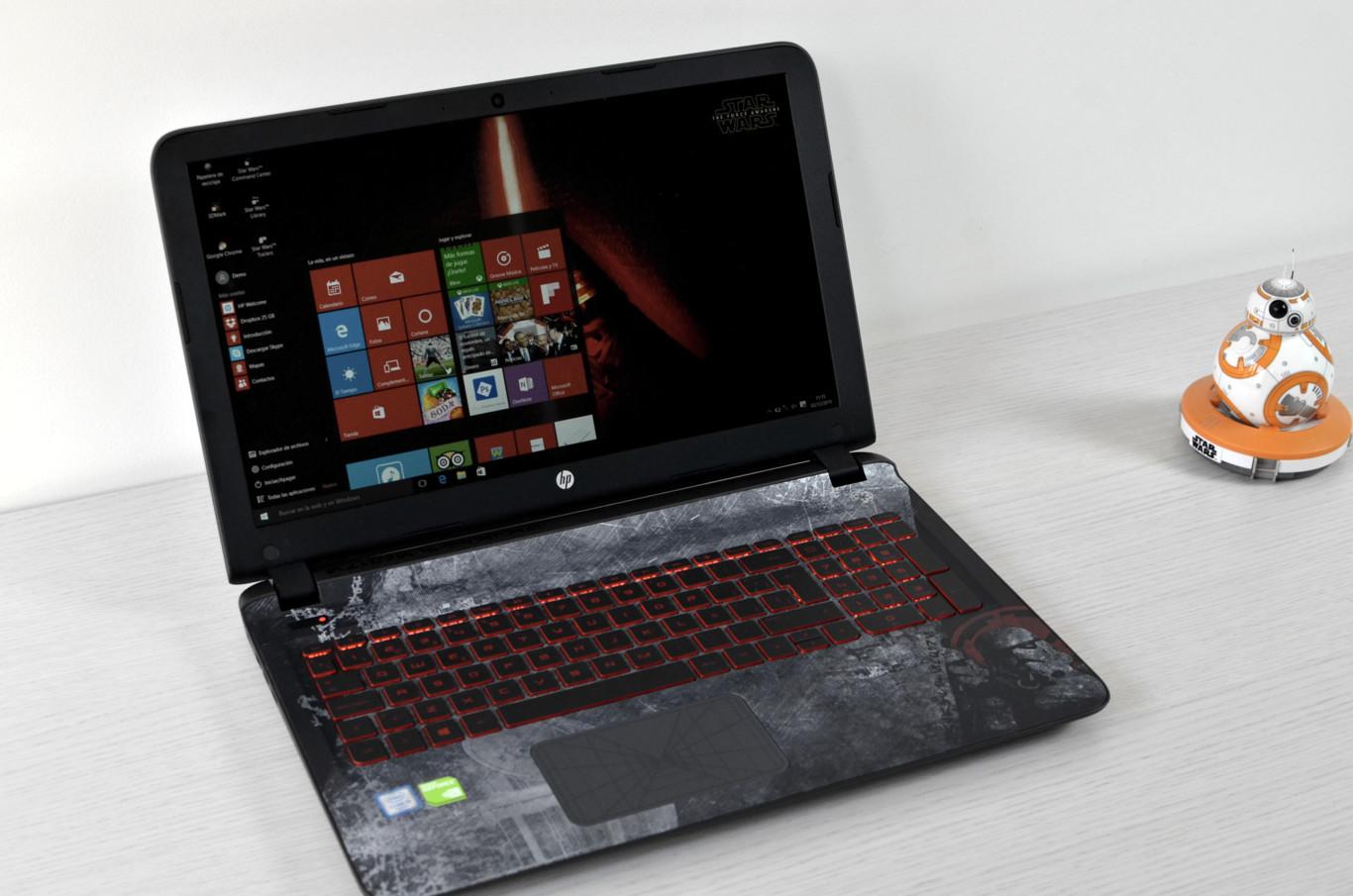 """HP Star Wars Edición Especial: probamos el portátil con más """"Fuerza"""" del mercado"""