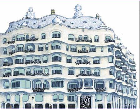 Ilustración Un paseo con el señor Gaudí