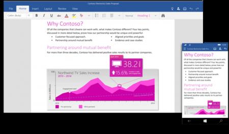 Las aplicaciones de universales de Office para Windows 10 ya están disponibles [Actualizado]