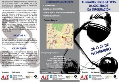 Crónica de las jornadas sobre la Sociedad de la Información de AJE Marineda (I)