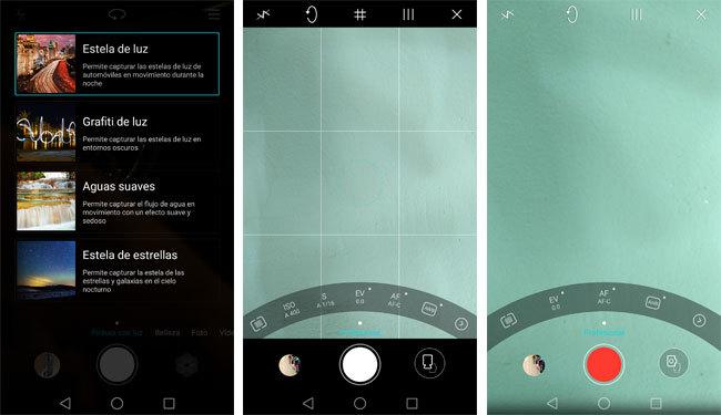 App de cámara del Huawei Nova Plus