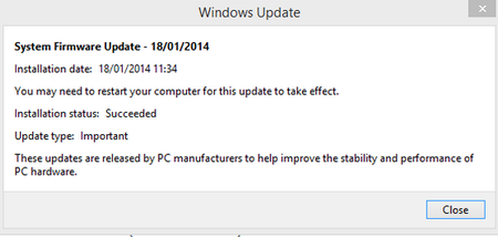 Surface Pro 2 update