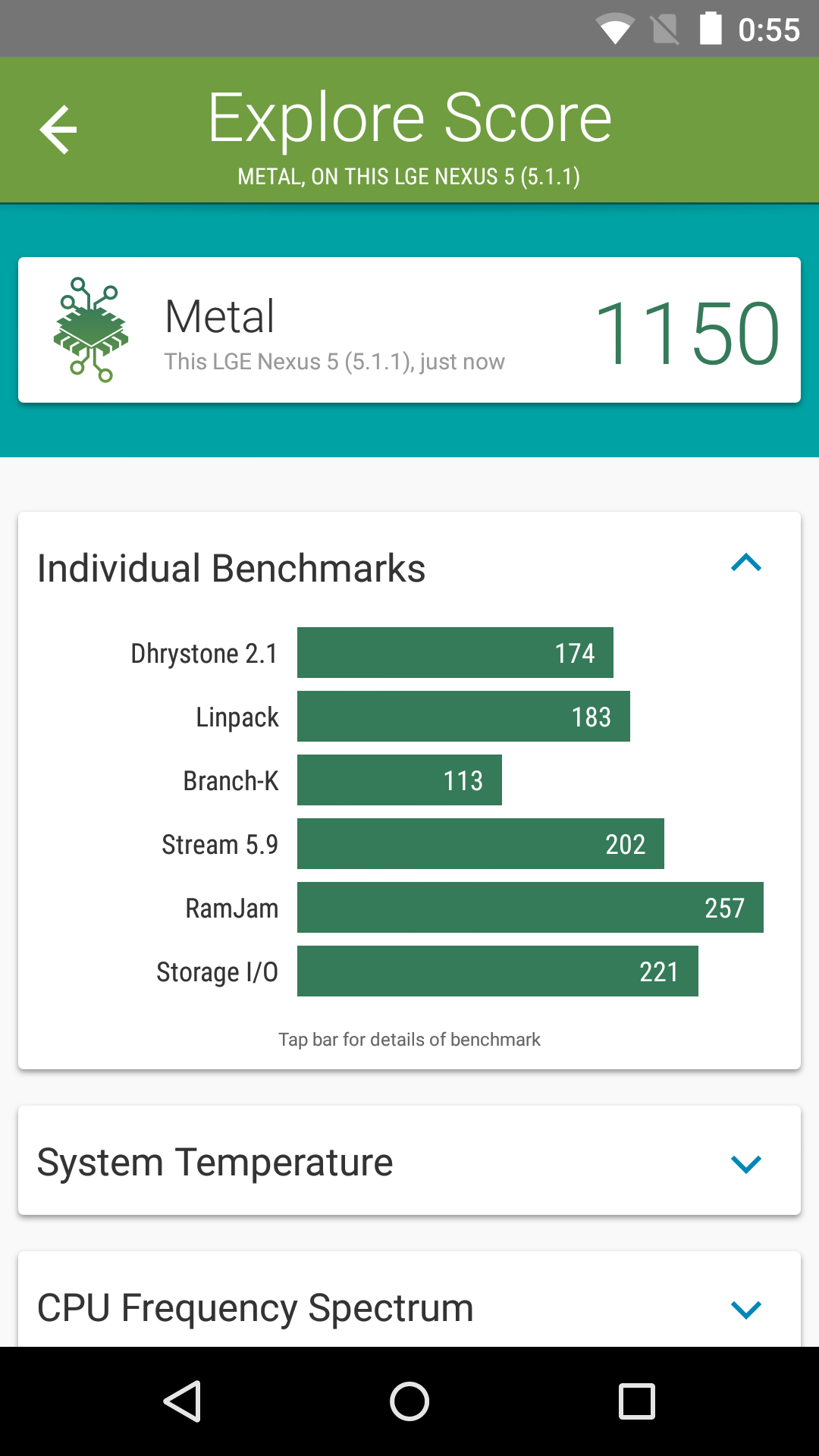 Foto de Benchmarks Nexus 5 Android 5.1.1 (23/43)