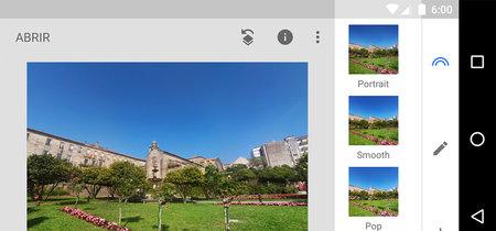 Así es la nueva interfaz de Snapseed para Android
