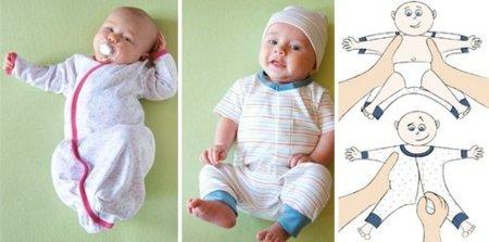 Ropa de bebé con cierre magnético