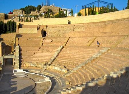 Gradas del teatro romano de Cartagena