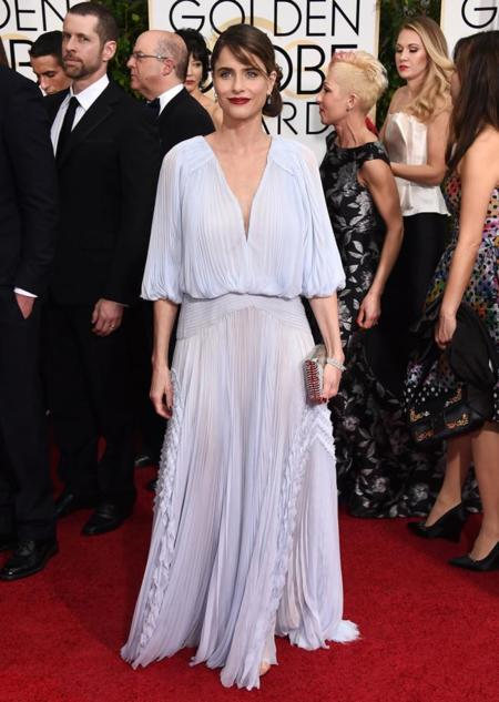 Amanda Peet en los Globos de Oro