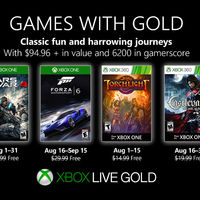 Gears of War 4 y Forza Motorsport 6 entre los juegos de Games With Gold de agosto