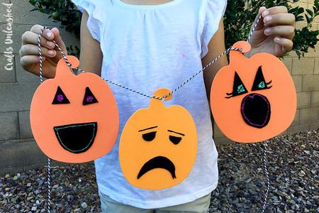 Manualidades Halloween Calabaza Guirnalda