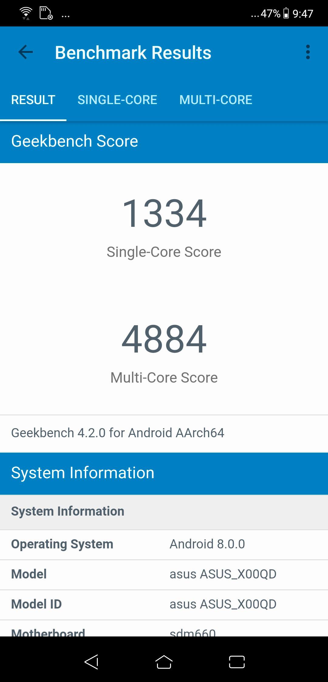 ASUS Zenfone 5, benchmarks