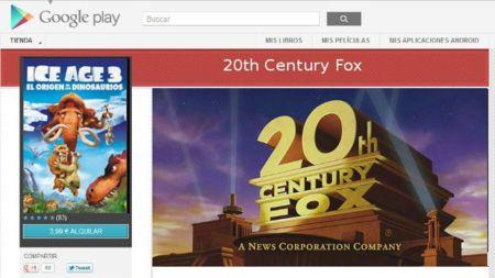 Google firma un acuerdo con Twentieth Century Fox para ampliar el catálogo de Google Play