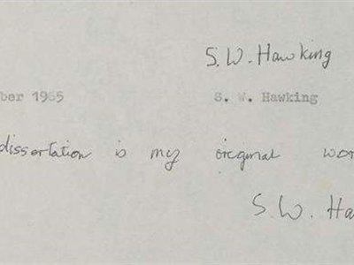Acceso libre a la tesis doctoral de Stephen Hawking