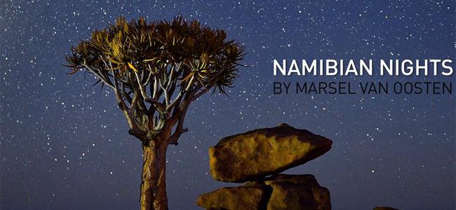 Noches de Namibia, timelapse al detalle extremo