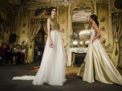 De vuelta al taller de costura convencional: así son los vestidos de novia 2017 de la pasarela Atelier Couture