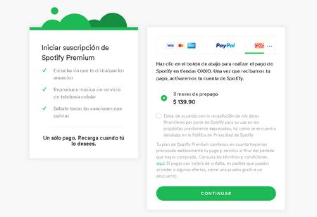 Spotify 3 Meses Premium Oxxo Mexico