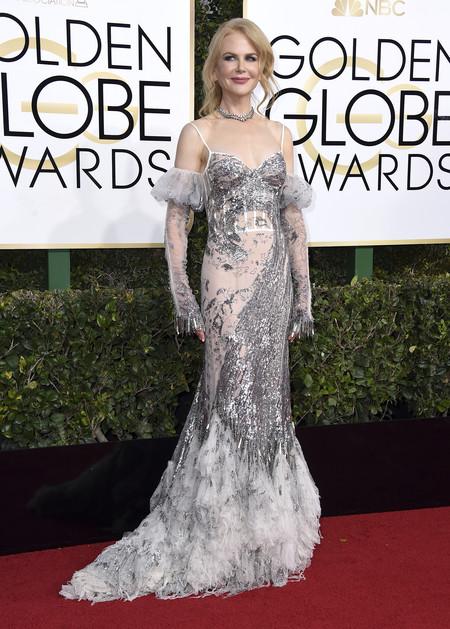 Nicole Kidman De Alexander Mcqueen En Los Globos Oro 2017
