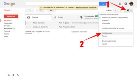 Entrar En La Configuracion De Gmail