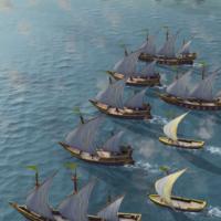Age of Empires 4, el esperado juego de estrategia, muestra dos nuevos vídeos: batallas navales y los camellos del nuevo Califato abasí