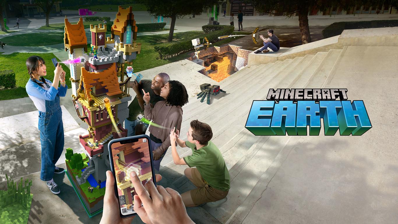 La gente ya ha empezado a crear cosas asombrosas en Minecraft Earth, y este piano gigante en medio de la...