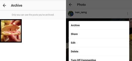 Instagram en Android te deja archivar publicaciones para ocultarlas del público