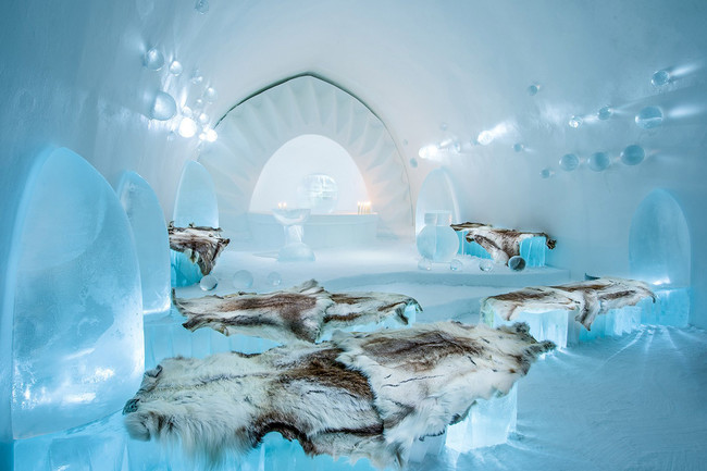 Ice Hotel presenta su hotel efímero 2016