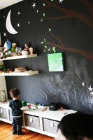 Doce buenas ideas para utilizar pintura de pizarra
