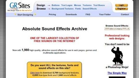 GRsites, hasta 1980 efectos de sonido gratuitos