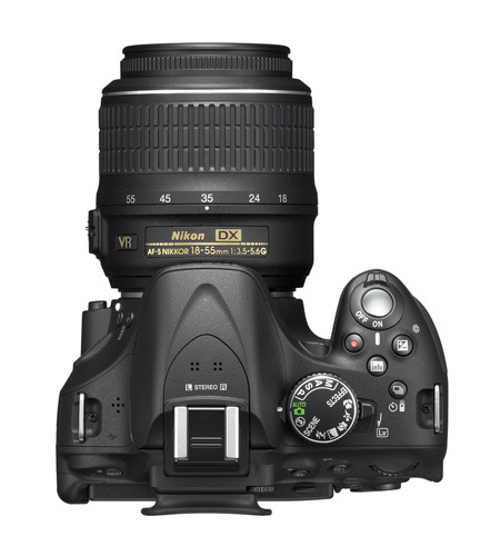 Nikon D5200 vista desde arriba