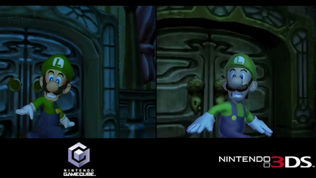 Así luce la versión de 3DS de Luigi's Mansion frente a la de GameCube