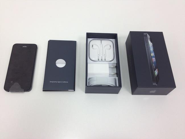 iPhone 5 contenido caja