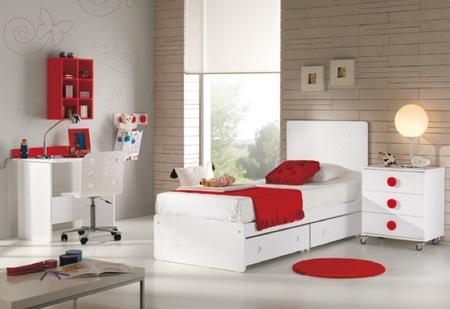 convertible blanco y rojo niño