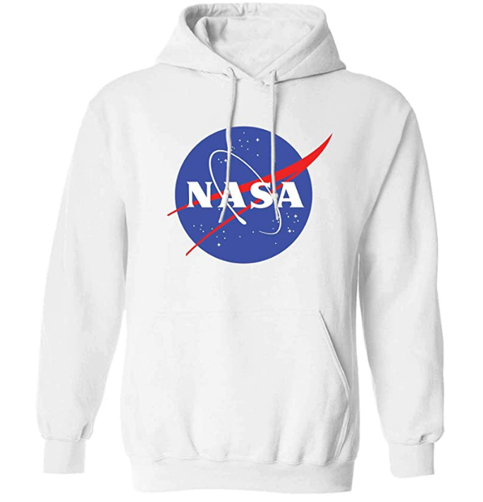Sudadera con capucha con logotipo de la NASA con logotipo (varias tallas y colores)