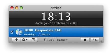 Convierte tu Mac en un despertador con Awaken