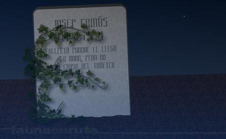fauna en ruta: lápida