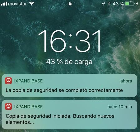 Notificaciones de iXpand Base