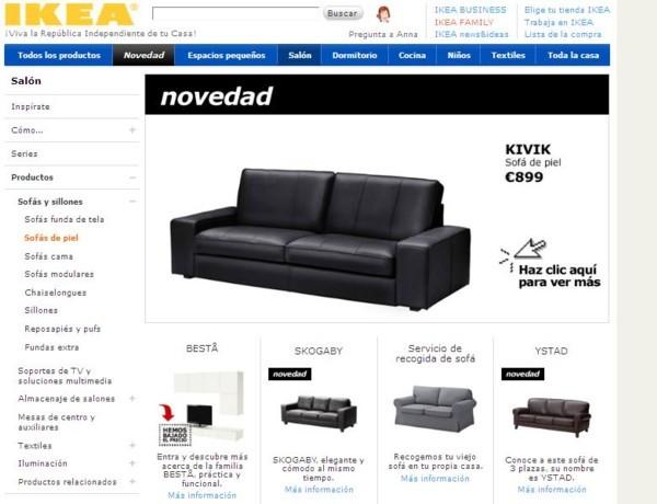 Rebajas sofá piel Ikea