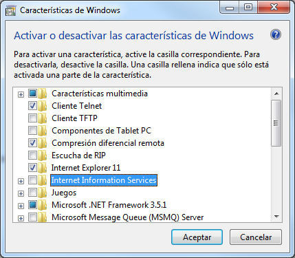 Características de Windows
