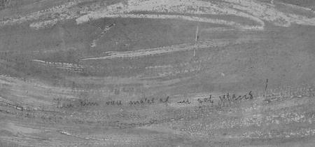 Fotografía con infrarojos de la frase escrita en 'El grito' de Edvard Munch.