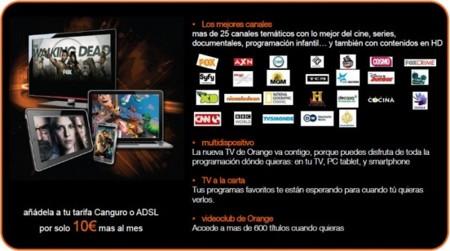 Orange TV se expande a dispositivos móviles y añade 360 MB gratis al mes en el móvil