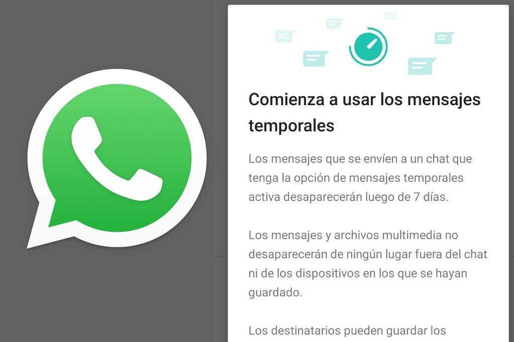 WhatsApp: cómo accionar los mensajes que desaparecen a la semana en un chat u grupo