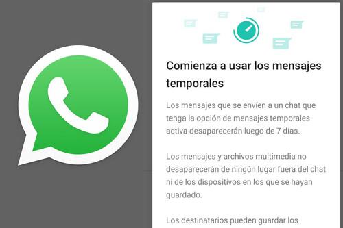WhatsApp: cómo activar los mensajes que desaparecen a la semana en un chat o grupo