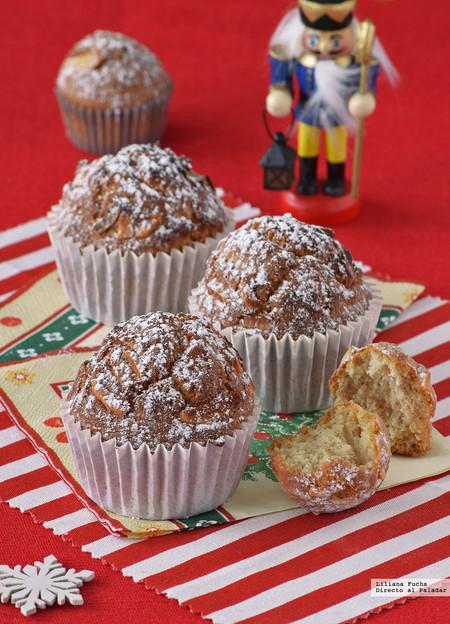 Magdalenas de naranja, especias y almendra. Receta para los desayunos de Navidad
