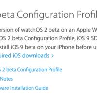 Apple libera la version Golden Master del WatchOS 2