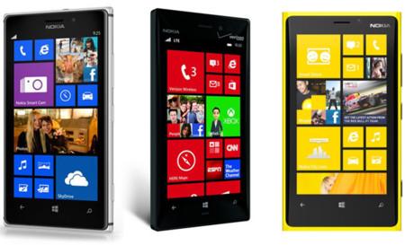 Nokia Lumia 925 frente a los Lumia 928 y 920