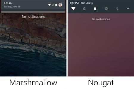 Comparacion Marshmallow Nougat Ajustes