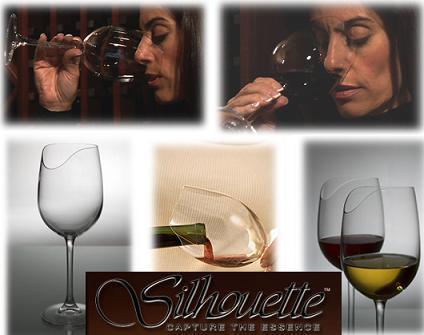 Copas de vino para narices prominentes, Silhouette Wine Glasses