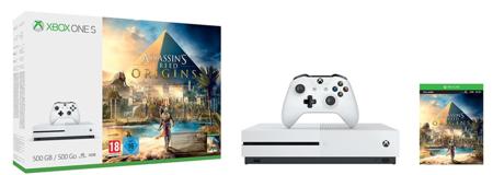 Xbox One S de 500GB, con el juego Assassin's Creed Origins, por sólo 179 euros y envío gratis