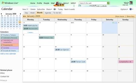 Windows Live Calendar sale de fase Beta y Hotmail agrega acceso POP