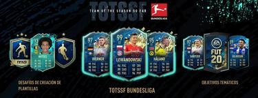 Guía FIFA 20: TOTSSF. Todas las cartas de la Bundesliga alemana del Equipo de la Temporada y los nuevos objetivos temáticos